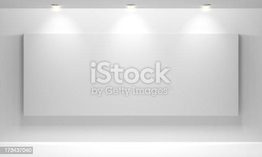istock Gallery Interior with empty 173437040