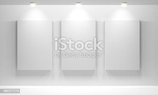 istock Gallery Interior with empty 185227273