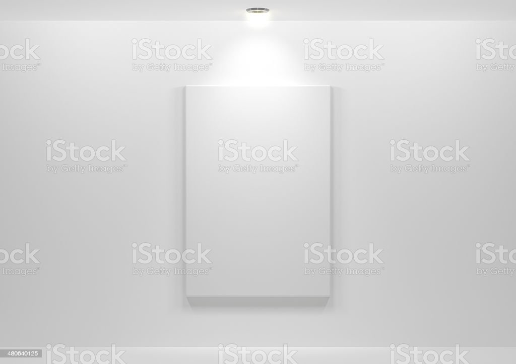 Gallery Interior with empty royalty-free stock photo