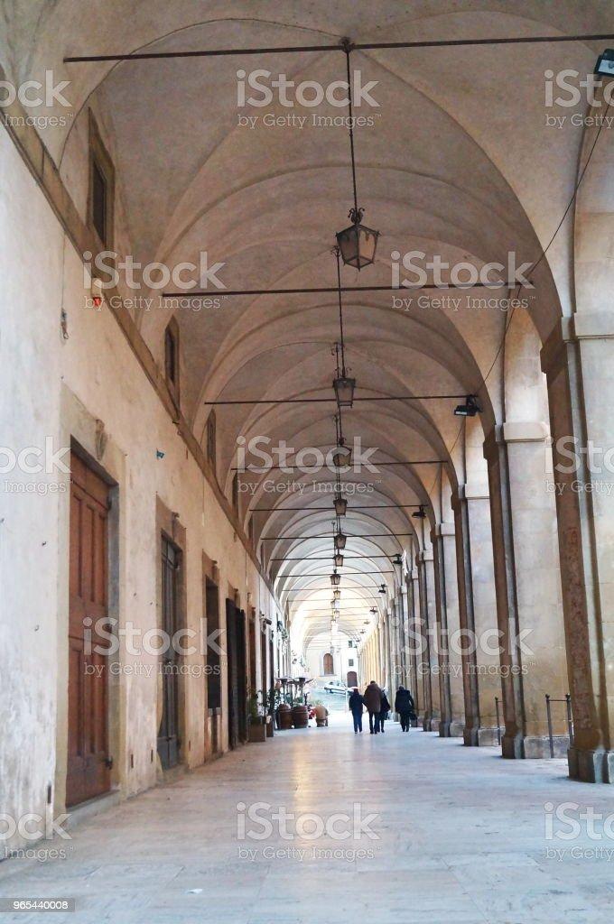 Galerie sur le centre d'Arezzo - Photo de Antique libre de droits