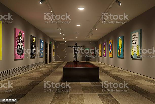 Modern art gallery showing all my work.