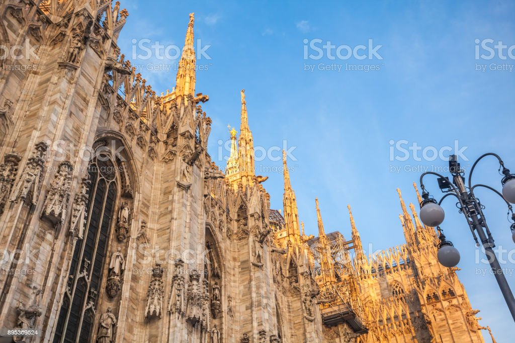 Gallery Vittorio Emanuele II in square of Duomo in Milan,  Italy stock photo