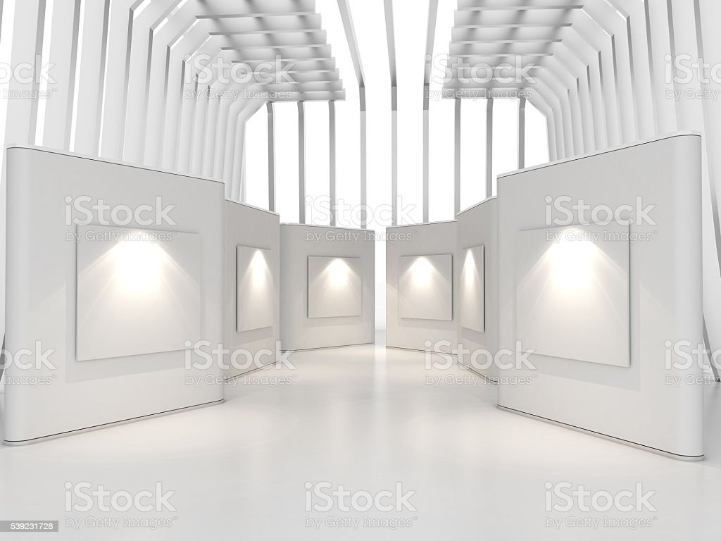 gallery white royalty-free stock photo