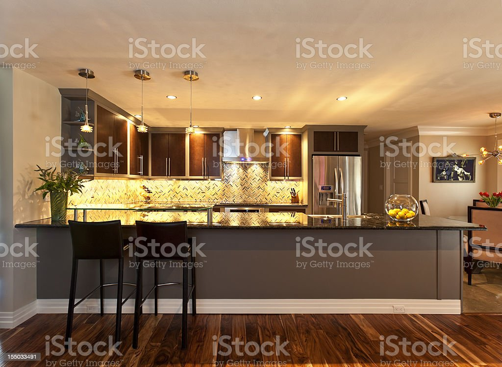 Galley Kitchen royalty-free stock photo