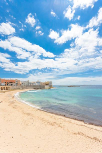 Gallipoli, Apulien - beeindruckende Ruhe am schönen Strand von Gallipoli – Foto