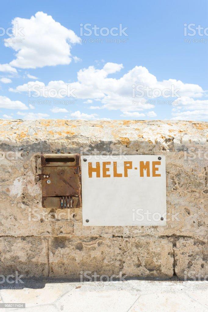 Gallipoli, Apulien - scheint, wie jeder dieser Hilferuf vergaß – Foto
