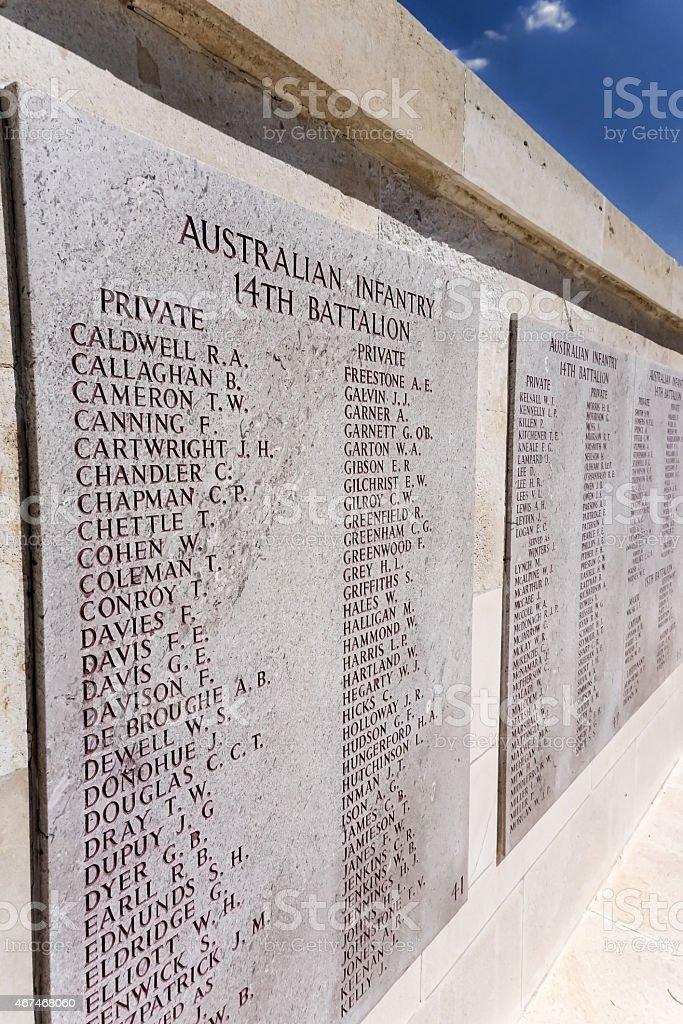 Gallipoli Australian Infantry stock photo