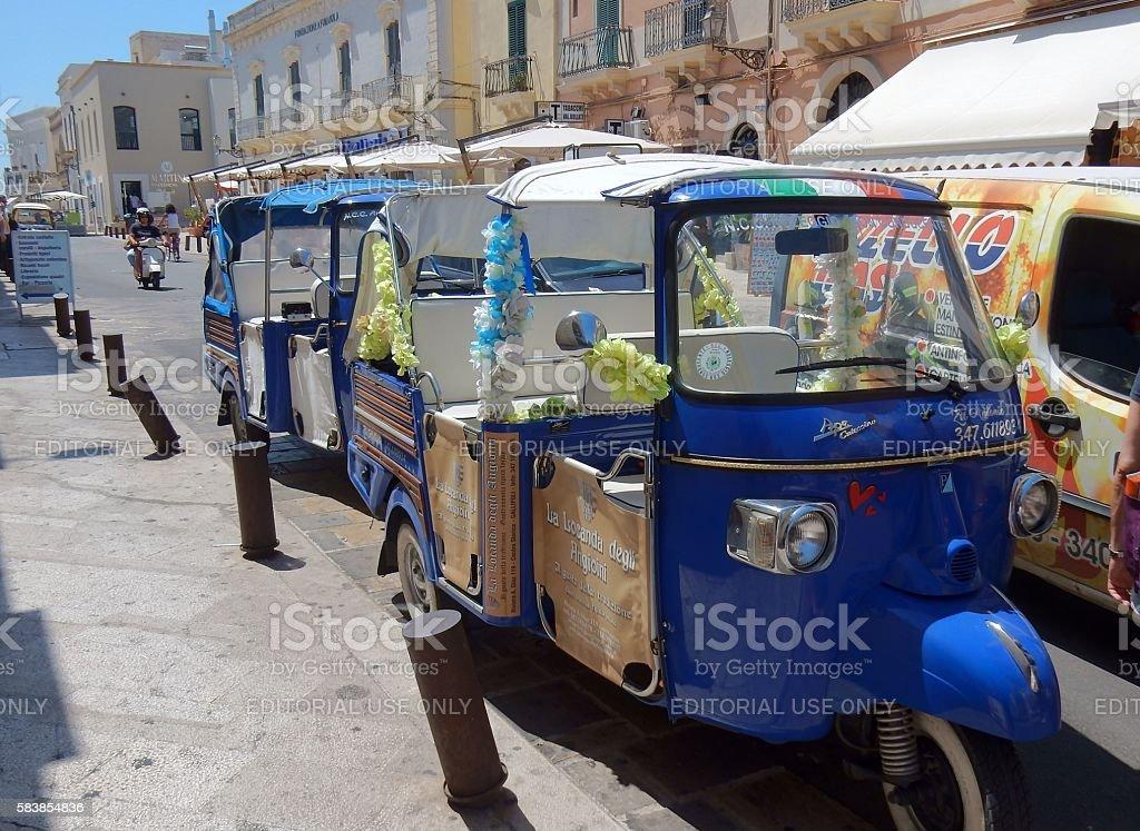 Gallipoli - Ape per turisti - foto stock