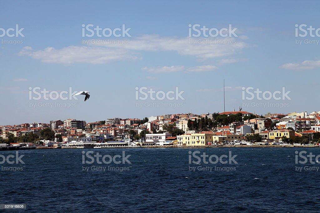 Gallipoli (Gelibolu) coast in Canakkale stock photo
