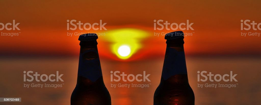Gallipoli, Italy. Un Drink al tramonto stock photo