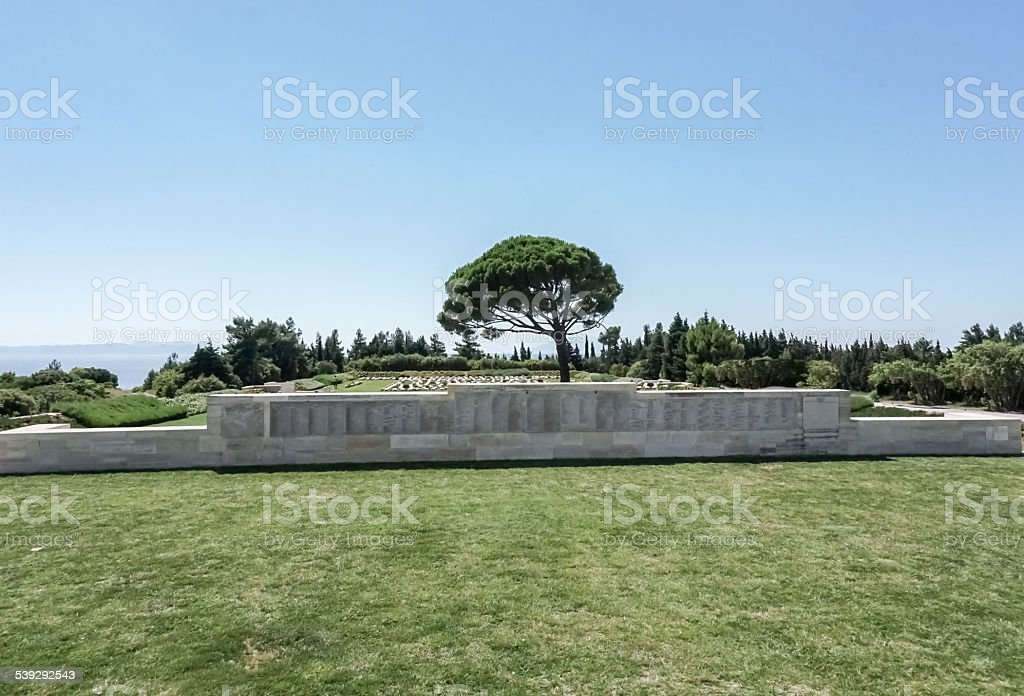 Gallipoli Lone Pine Memorial stock photo