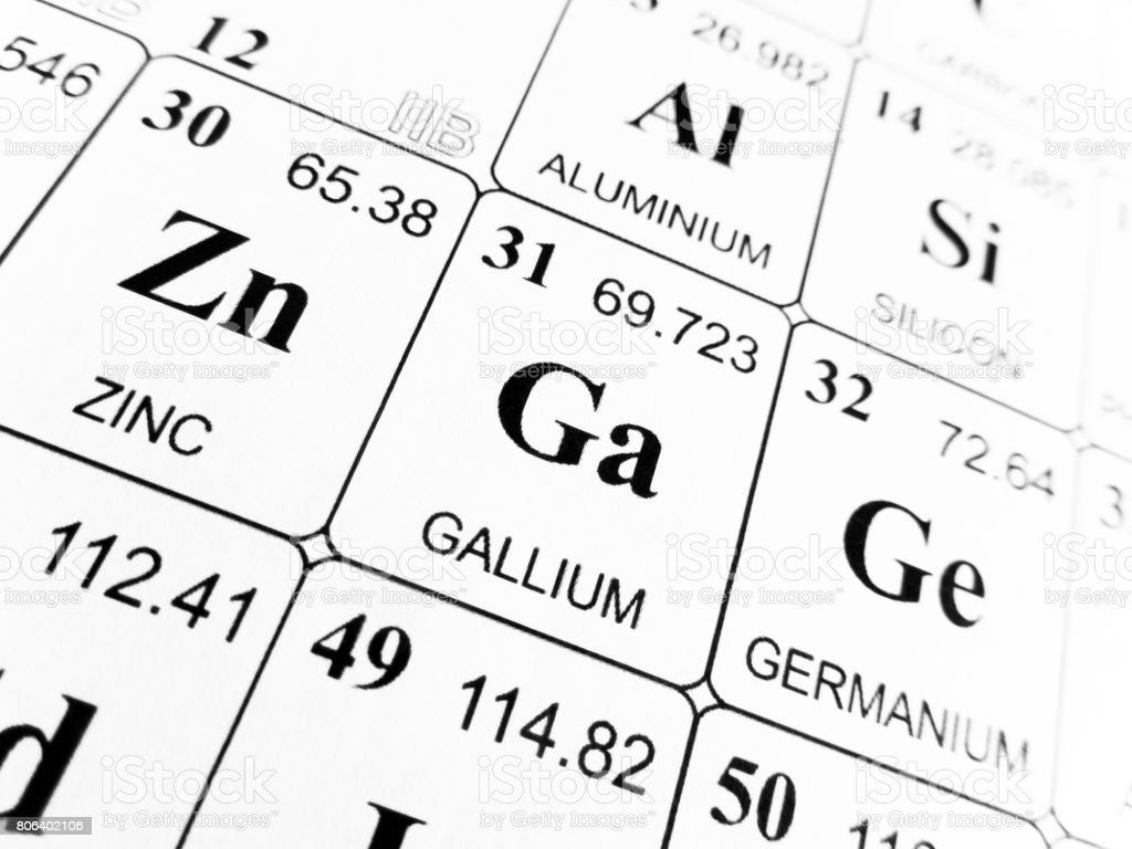 Gallium on the periodic table of the elements stock photo istock gallium on the periodic table of the elements royalty free stock photo gamestrikefo Choice Image
