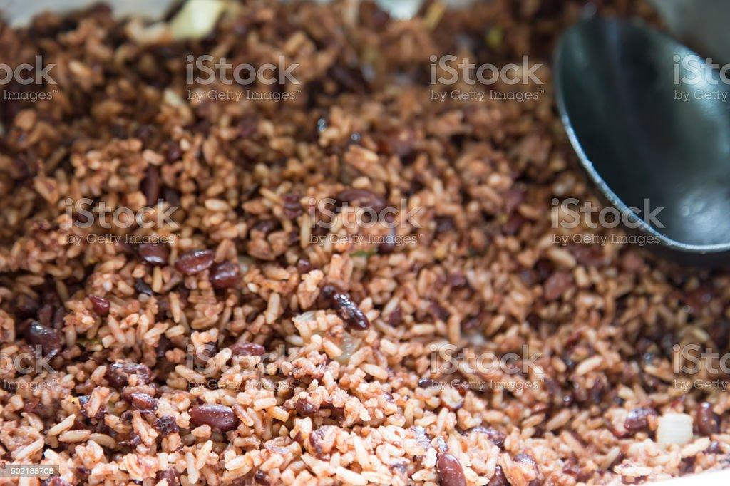 Gallo pinto - traditional dish of Nicaragua stock photo