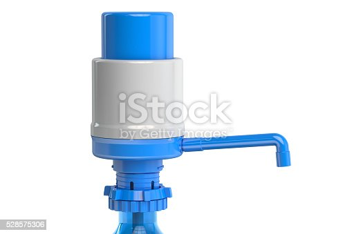 Gallon Bottle Drinking Water Pump, water dispenser pump. 3D rendering