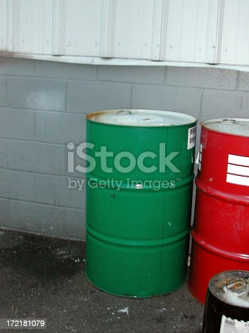55 gallon industrial sized metal drums.  if you use this please let me know