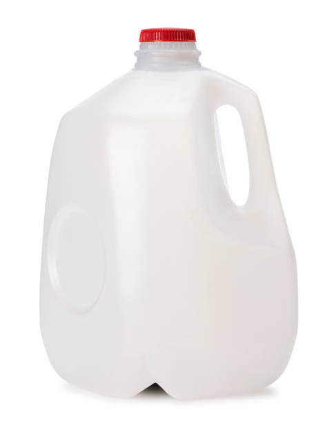 Gallon of Milk This is a photo of a gallon of Milk isolated on a white background.Click on the links below to view lightboxes. gallon stock pictures, royalty-free photos & images
