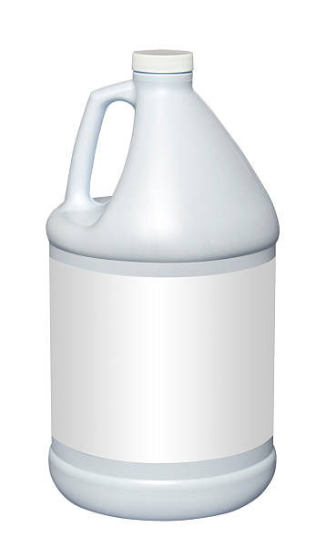 Gallon plastic jug, isolated White gallon plastic jug, isolated with clipping path gallon stock pictures, royalty-free photos & images