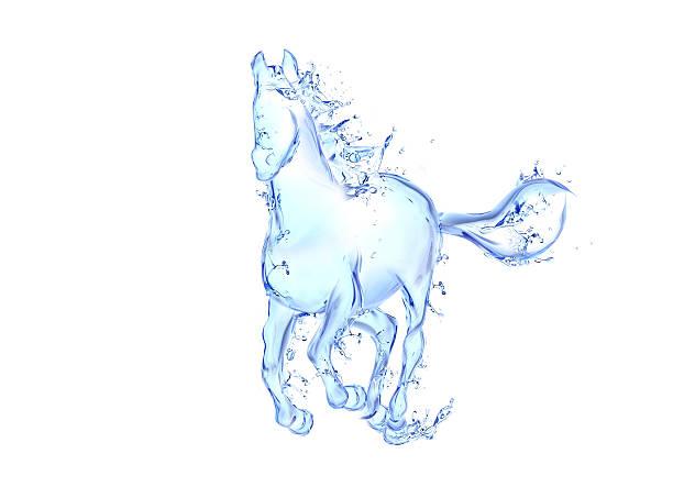 Galloping horse liquid artwork stock photo