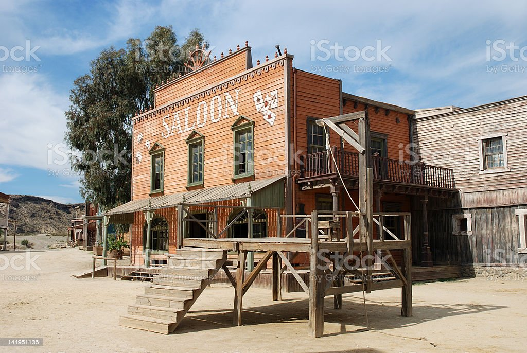 Gallow and Saloon stock photo