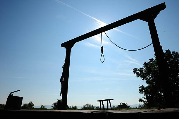 gallow - noose stock photos and pictures