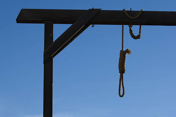 Gallows in courthouse stock photo