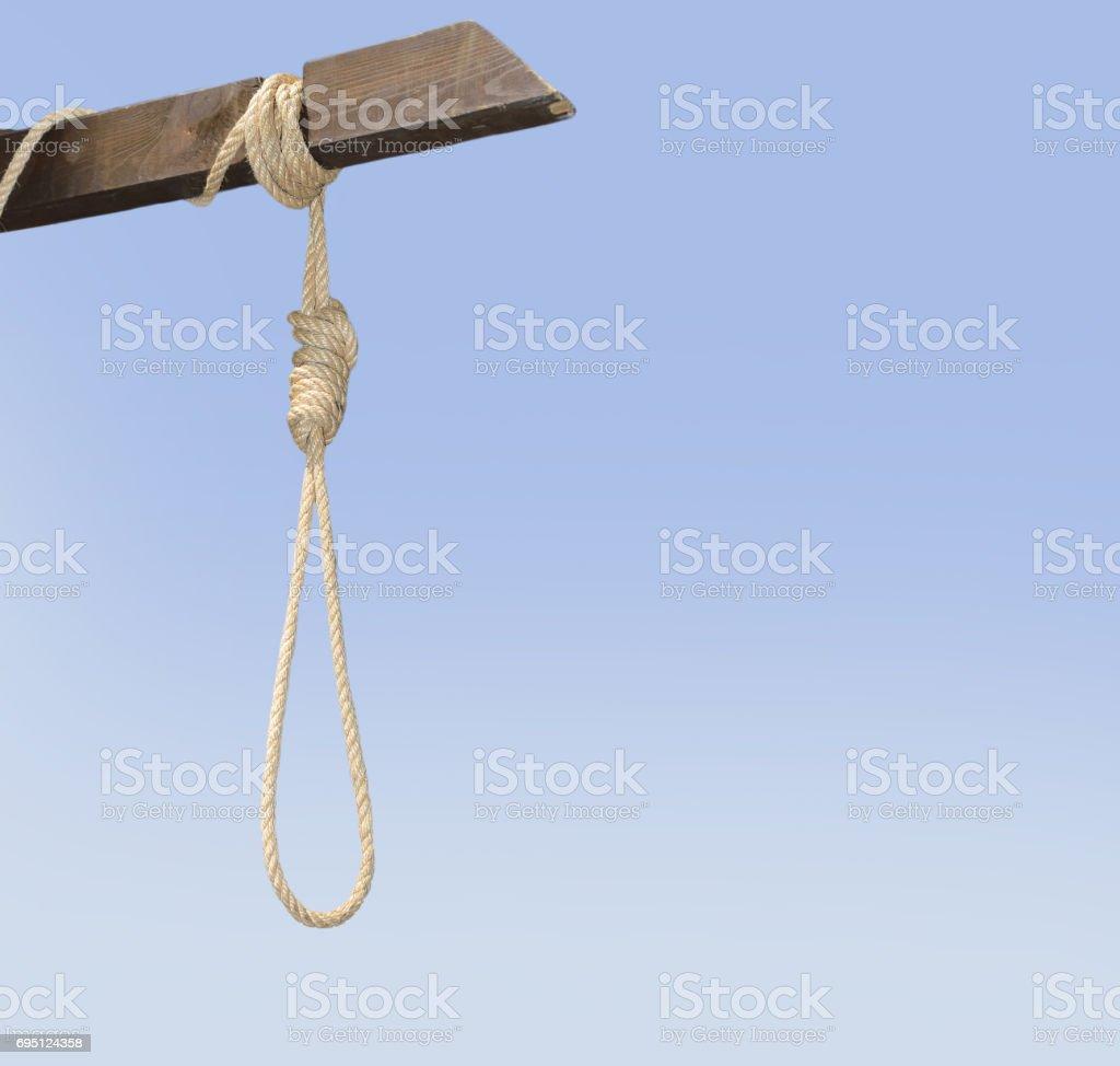 gallows of execution stock photo