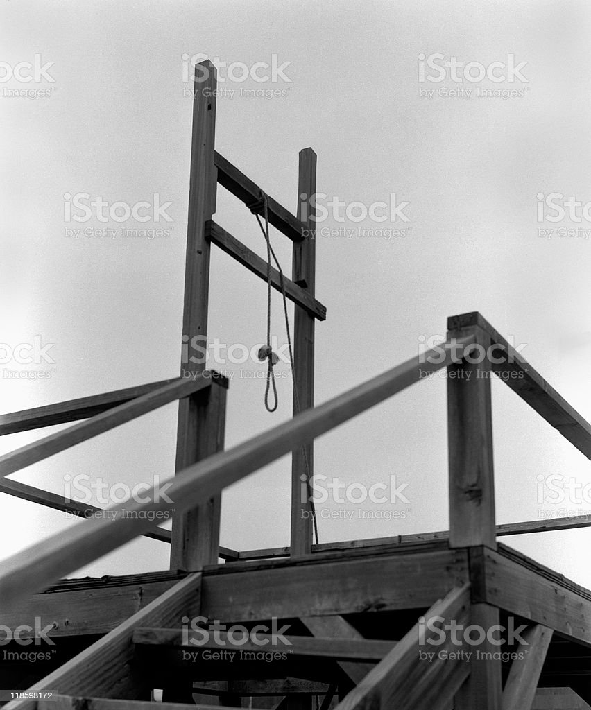 Gallows stock photo