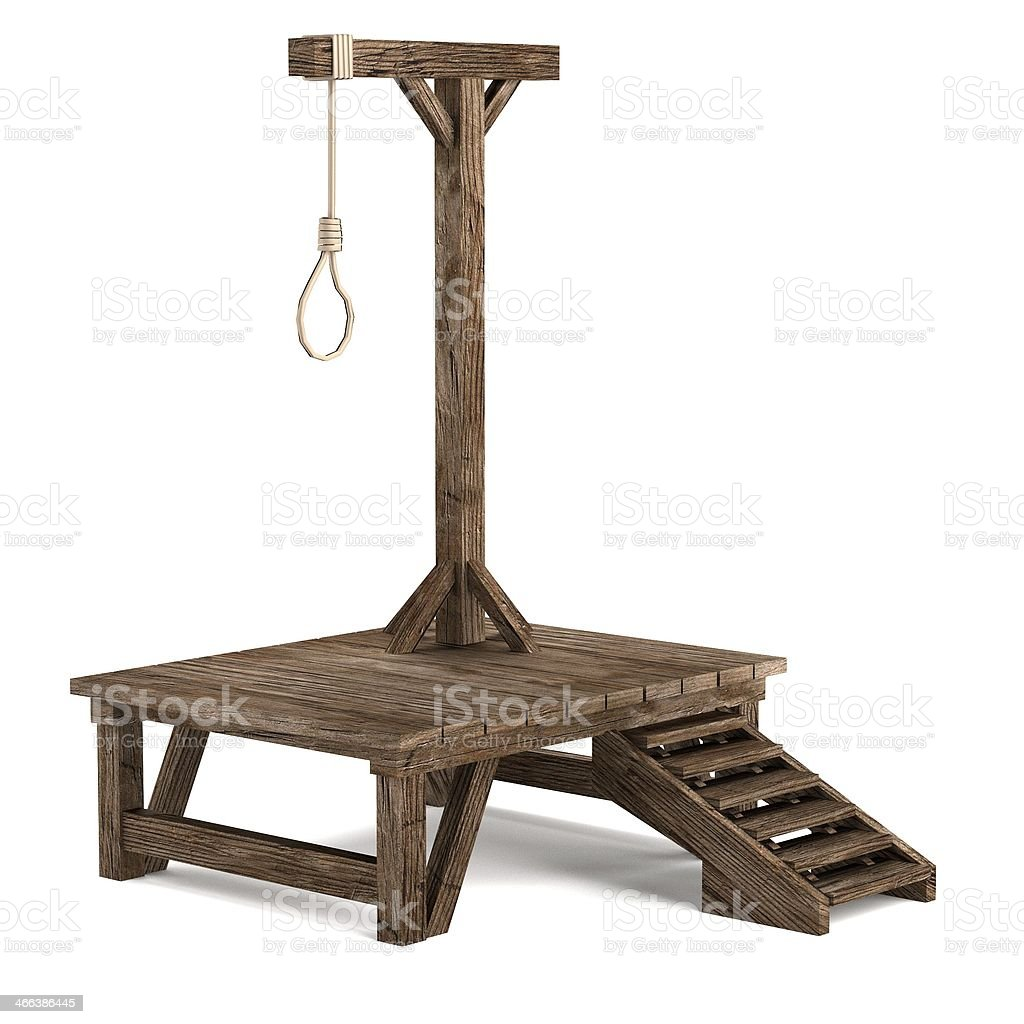 gallows stock photo