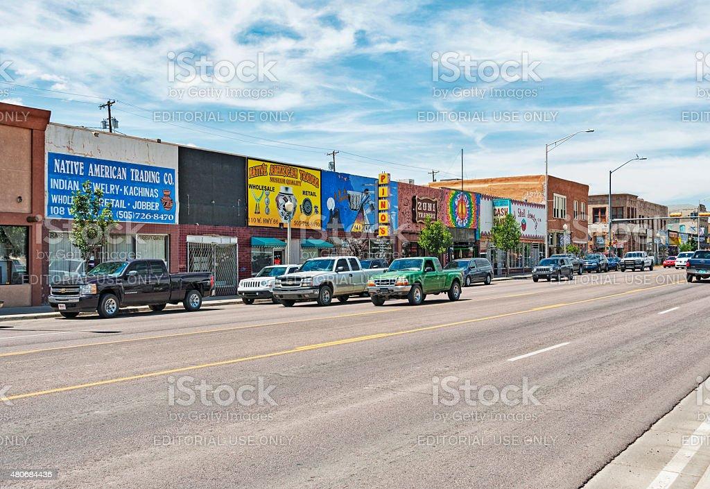 Gallup New Mexico Street Views stock photo