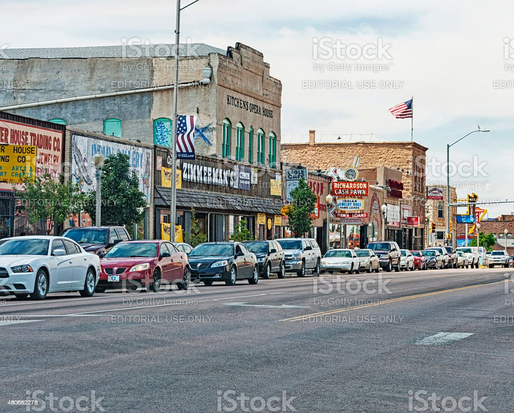Gallup New Mexico with historic buildings stock photo