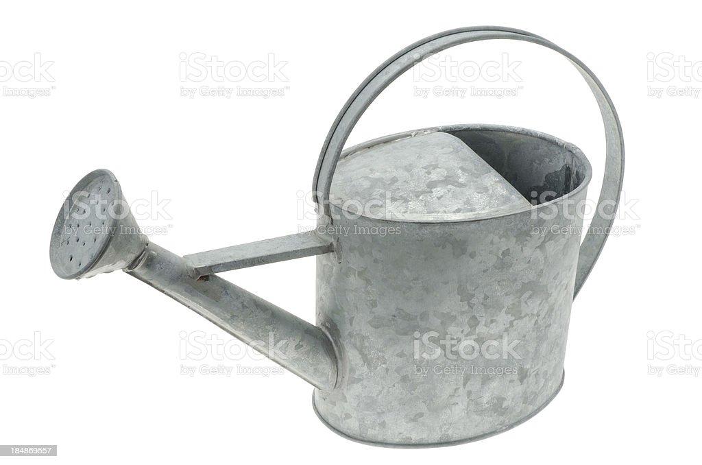 Galvanised metal watering can royalty-free stock photo
