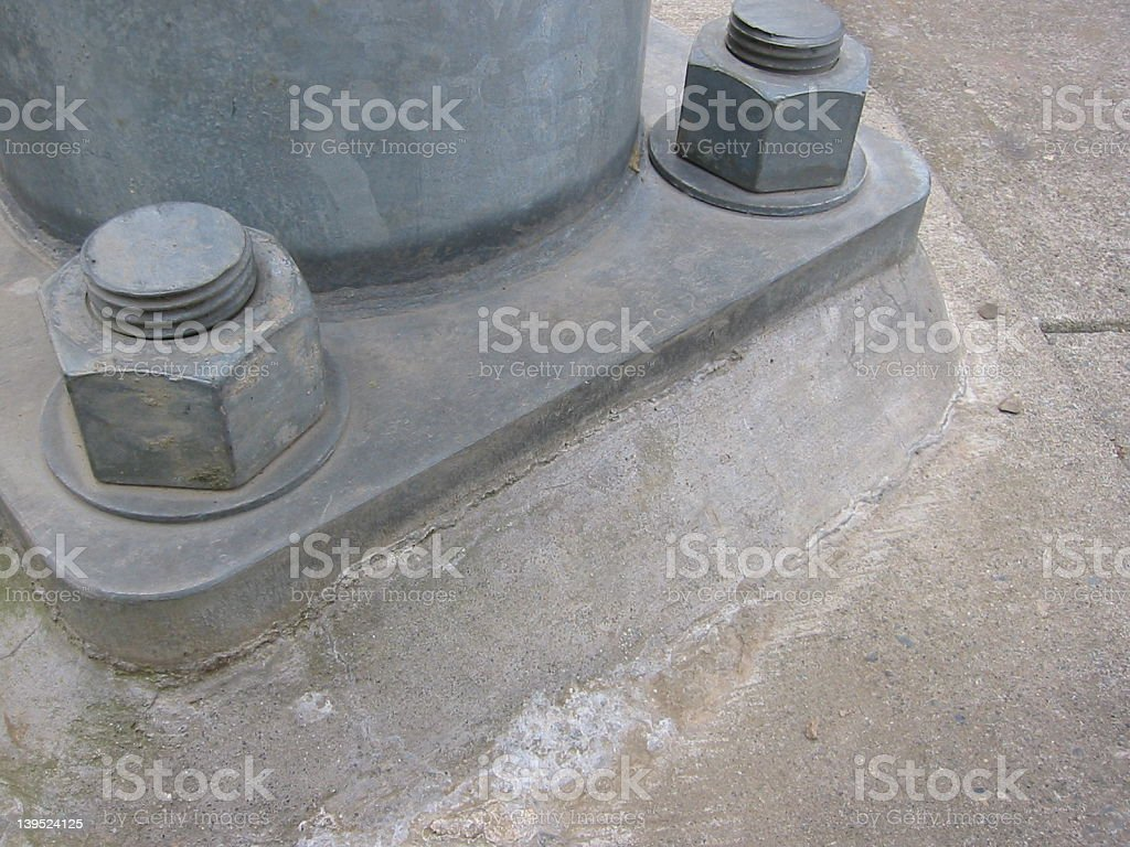 Galvanized Bolts and Plate royalty-free stock photo