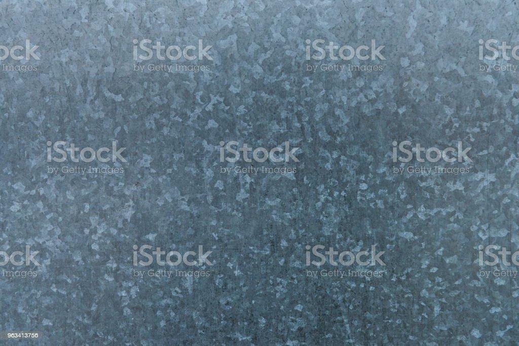 Galvanized iron sheet metal texture - Zbiór zdjęć royalty-free (Bez ludzi)