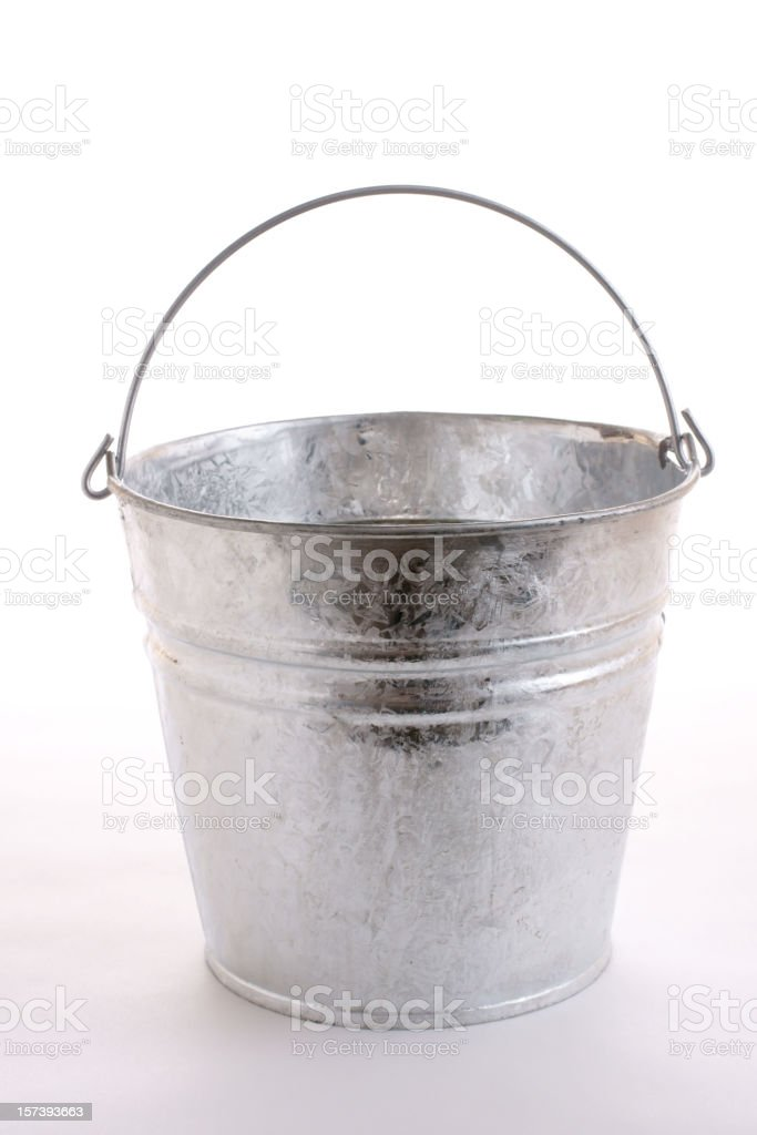 galvanized metal bucket stock photo