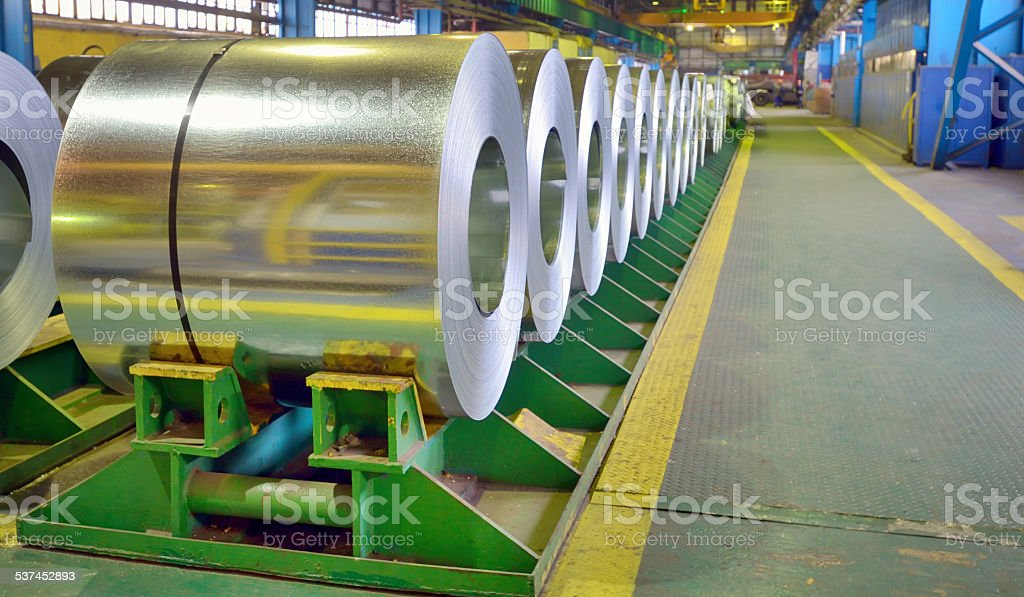 galvanized steel coils stock photo