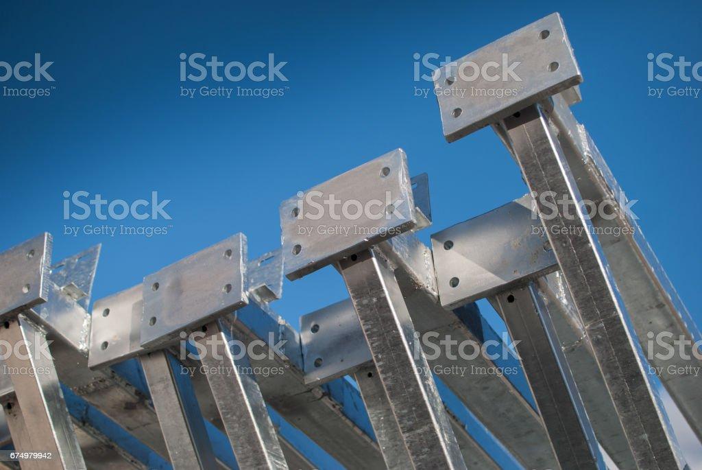 Galvanized steel frame stock photo