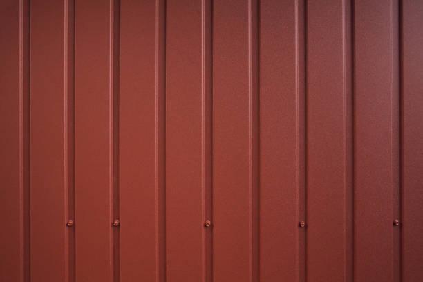 verzinkte stahlwandplatte - alu zaun stock-fotos und bilder