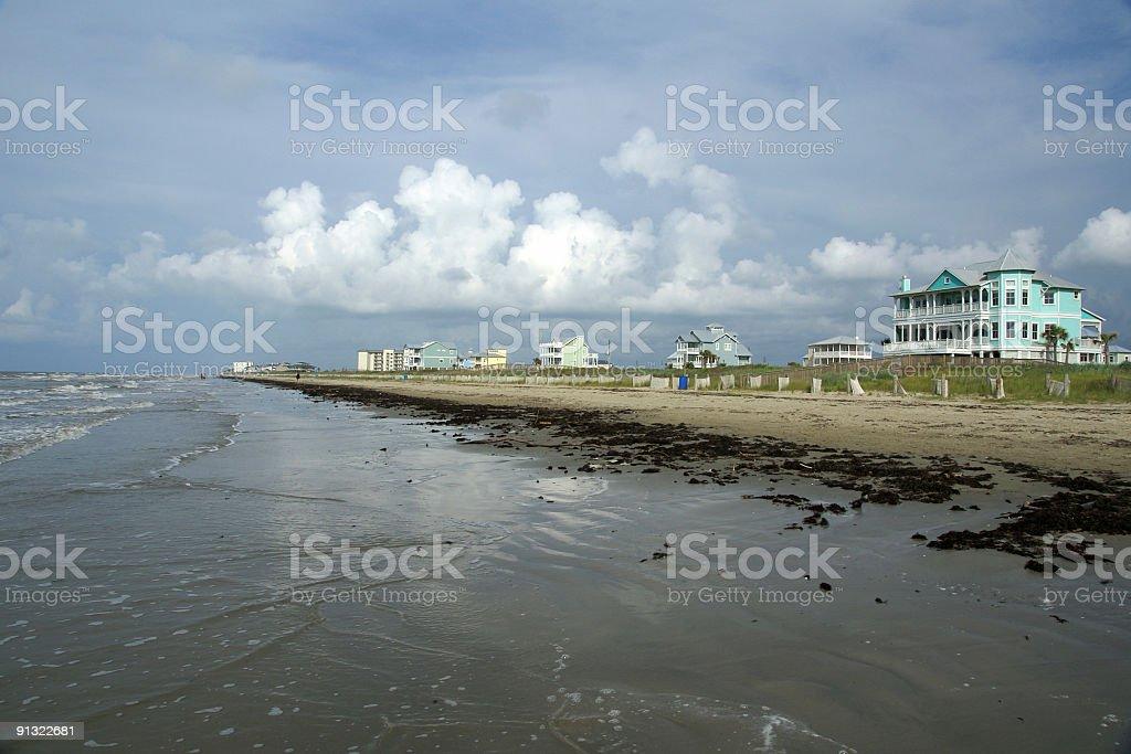 Galveston beach royalty-free stock photo