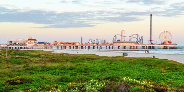 Galveston Island Historic Plesure Pier stock photo