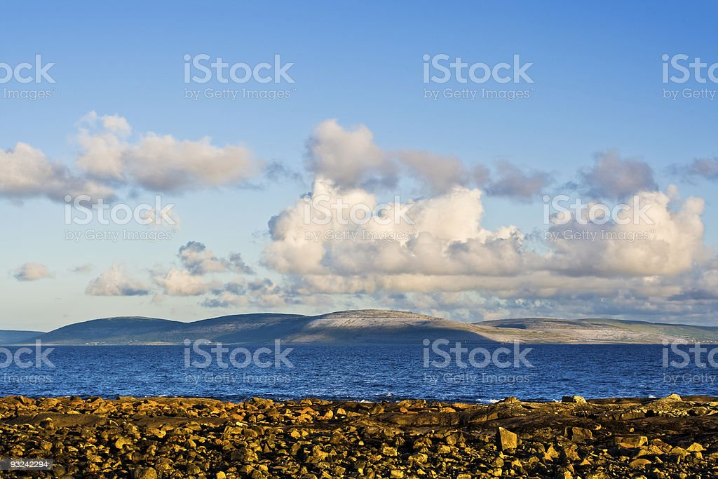 Galway Bay and Burren royalty-free stock photo