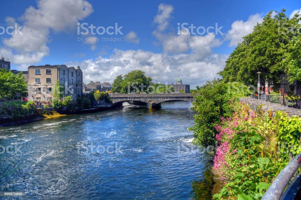 Galway River Walk stock photo