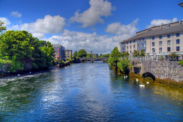 Galway River Walk stock photo
