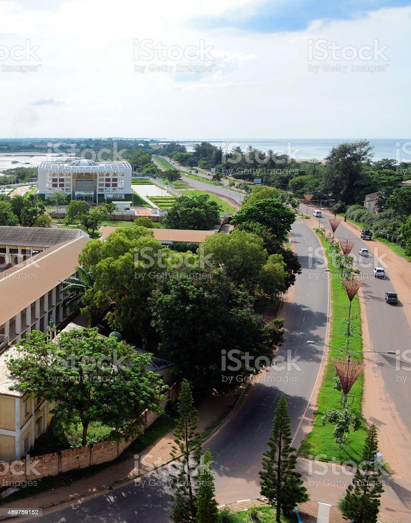 Gambia, Banjul: Serrekunda Highway stock photo