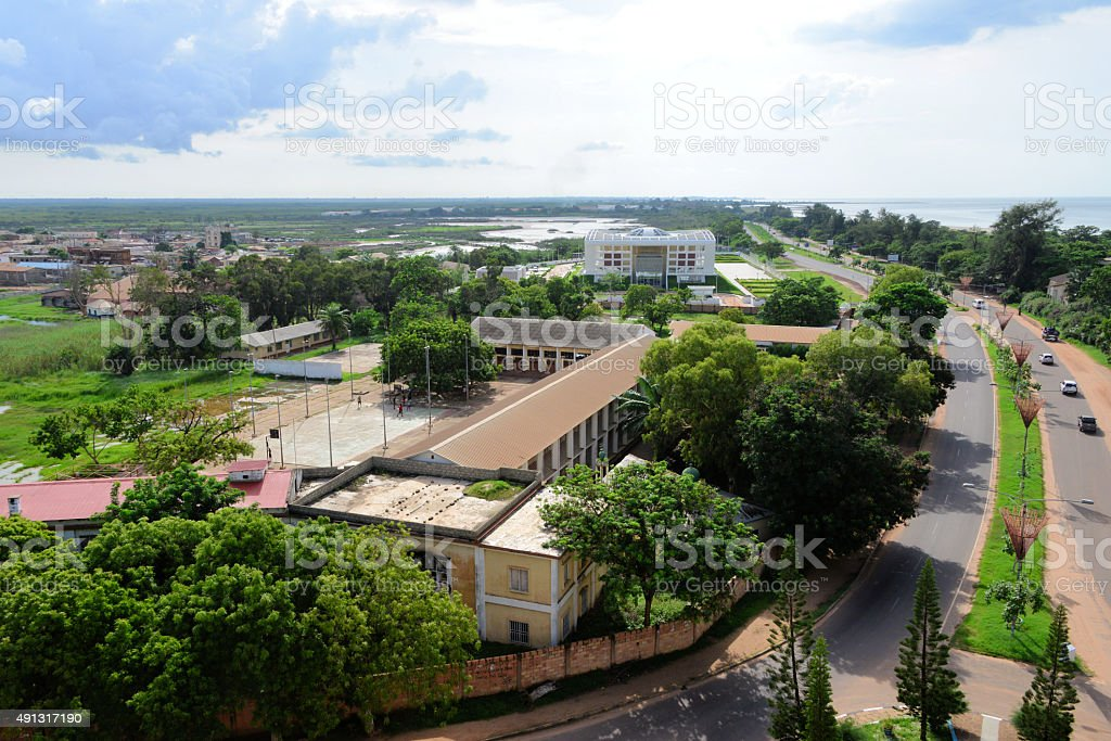 Gambia High School and Parliament stock photo