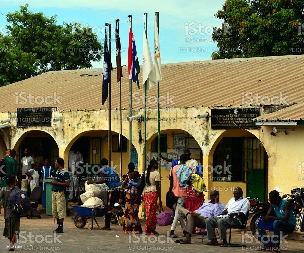 Gambia - Senegal border stock photo