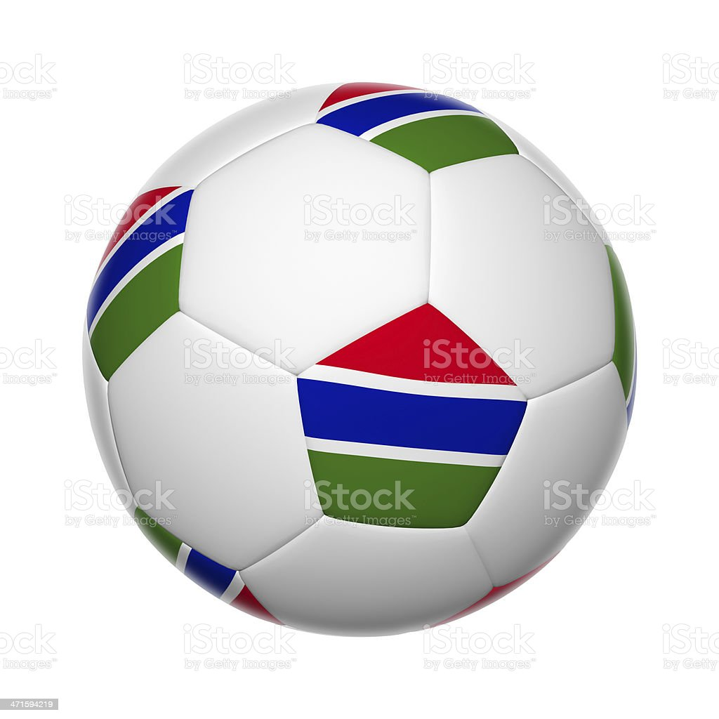 Gambia soccer ball royalty-free stock photo