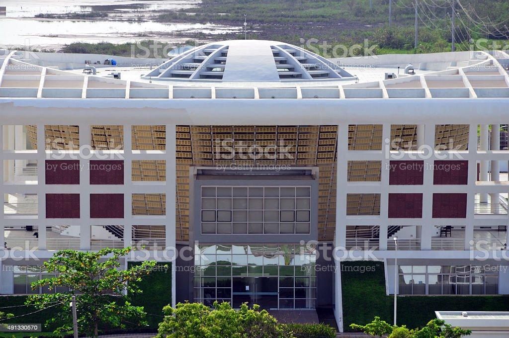 Gambian parliament, Banjul stock photo