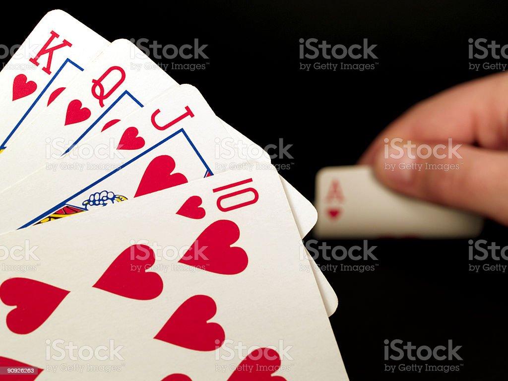 Gamble Collection - Upcomming royal flush royalty-free stock photo
