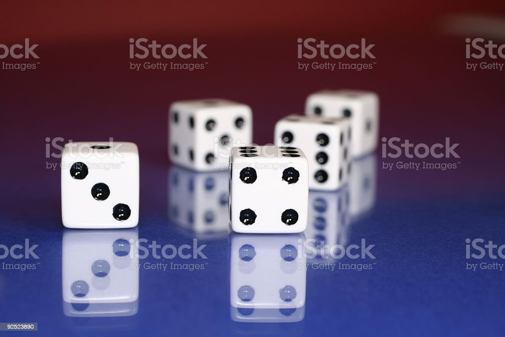 gamble with dice royalty-free stock photo