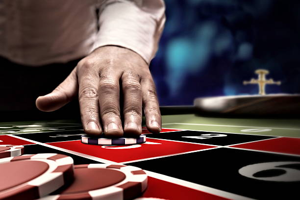 gambler bet on roulette number - Photo